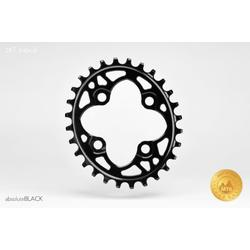 Absolute Black OVAL 64BCD MOUNTAIN CHAINRING N/W