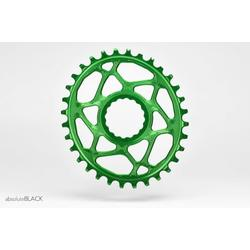 Absolute Black ABSOLUTE BLACK OVAL RACEFACE CINCH DIRECT MOUNT CHAINRING N/W