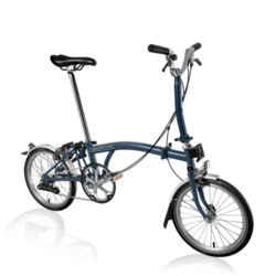 Brompton M2L Folding Bike, Tempest Blue