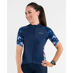 PEPPERMINT Cycling Co. Women's Petals Navy Signature Jersey