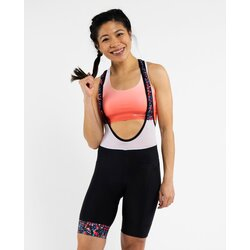PEPPERMINT Cycling Co. Women's Sparks Black Signature Bib Shorts