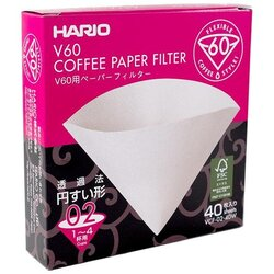 Hario Hario V60-02 White (40 Pack)