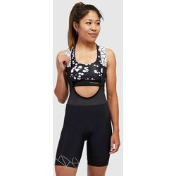 PEPPERMINT Cycling Co. Women's Crystalized Black Bib Shorts