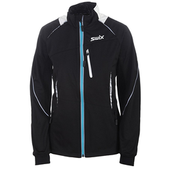 Swix Delda Light Softshell Jacket Womens WhiteBlackTundraBlue Medium