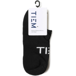 TIEM Low-Cut Socks - Black/White