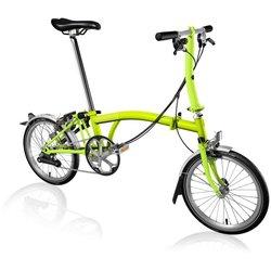 Brompton S6L Folding Bike, Lime Green