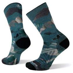 Smartwool Men's PhD® Outdoor Light Mountain Camo Print Hiking Crew Socks