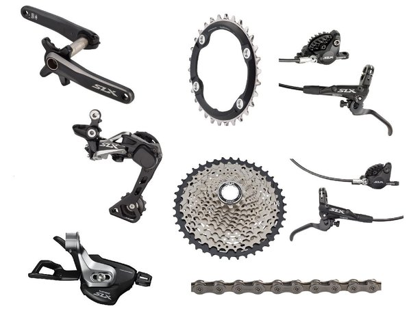 Shimano SLX M7000 170mm Complete Groupset with Brakes