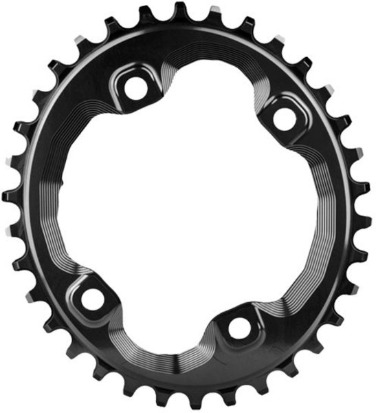 Absolute Black XT Asym 96BCD Oval Chainring 34T