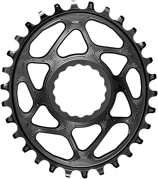 Absolute Black Oval Chainring Cinch Shimano 12-Speed