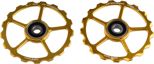 CeramicSpeed OSPW Replacement Pulley Wheel Set, 17t Gold