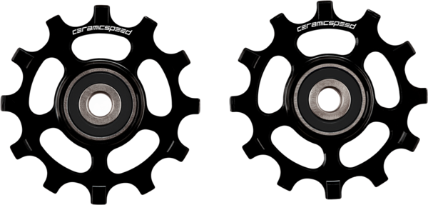 CeramicSpeed Pulley Wheel Oversized SRAM AXS Road 12-Speed, Black Coated