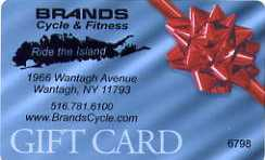 Brands Cycle Gift Cards - FREE GROUND SHIPPING