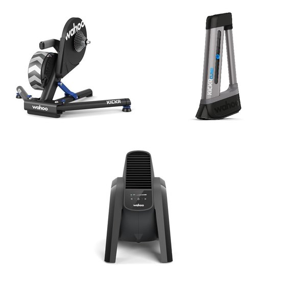 Wahoo Fitness KICKR Power Trainer, Kickr Climb, Headwind Fan Bundle