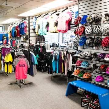 store interior - helmets and apparel