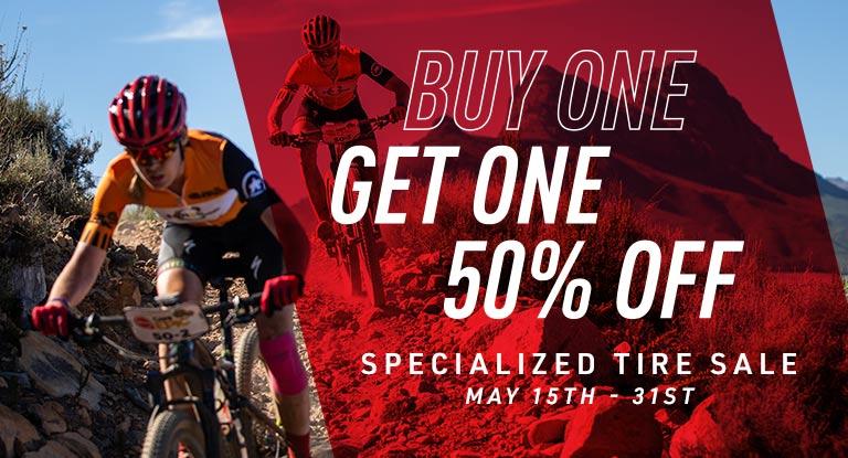Specialized BOGO Tire 50% OFF Promo