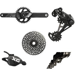 SRAM X01 Eagle DUB Groupset, Black/Silver