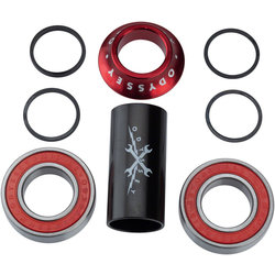 Odyssey MID Bottom Bracket 22mm, Anodized Red