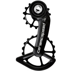 CeramicSpeed Oversized Pulley Wheel System for SRAM Red/Force AXS - Coated, Alloy Pulley, Carbon Cage, Black