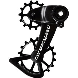 CeramicSpeed OSPW X Oversized Pulley Wheel System for SRAM Eagle AXS - Alloy Pulley, Carbon Cage, Black