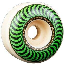 Spitfire F4 Classic 54mm White/Green Swirl Wheels