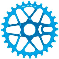 Odyssey Fang Sprocket, Anodized Cyan