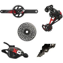 SRAM X01 Eagle DUB Groupset, Red/Black