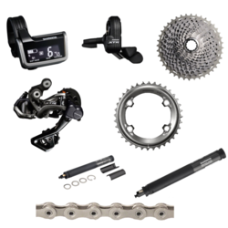 Shimano XTR 9050 170mm Di2 8-Piece Groupset without Crankset