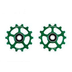 CeramicSpeed Pulley Wheels Coated, Alloy, Green