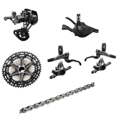 Shimano XTR M9100 12-Speed Groupset with brakes, 10-45T Cassette
