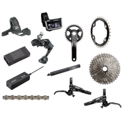 Shimano XT 8050 Di2 170mm Complete Groupset 1x With Brakes