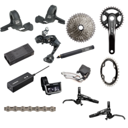 Shimano XT 8050 Di2 170mm 14-Piece Groupset 2x Including Brakes