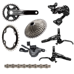 Shimano XT 8000 175mm 8-Piece Groupset Including Brakes