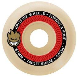 Spitfire F4 Tablet 53mm Natural/Red Wheels