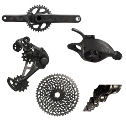 SRAM XX1 Eagle 175mm GXP 5-Piece Groupset, Black Edition, XX1 Black Chain, X01 Black Cassette
