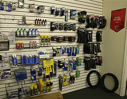 cycling accessories at The Bicycle Shop