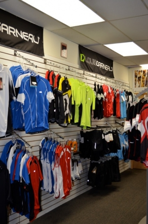 Cycling clothing at The Bicycle Shop