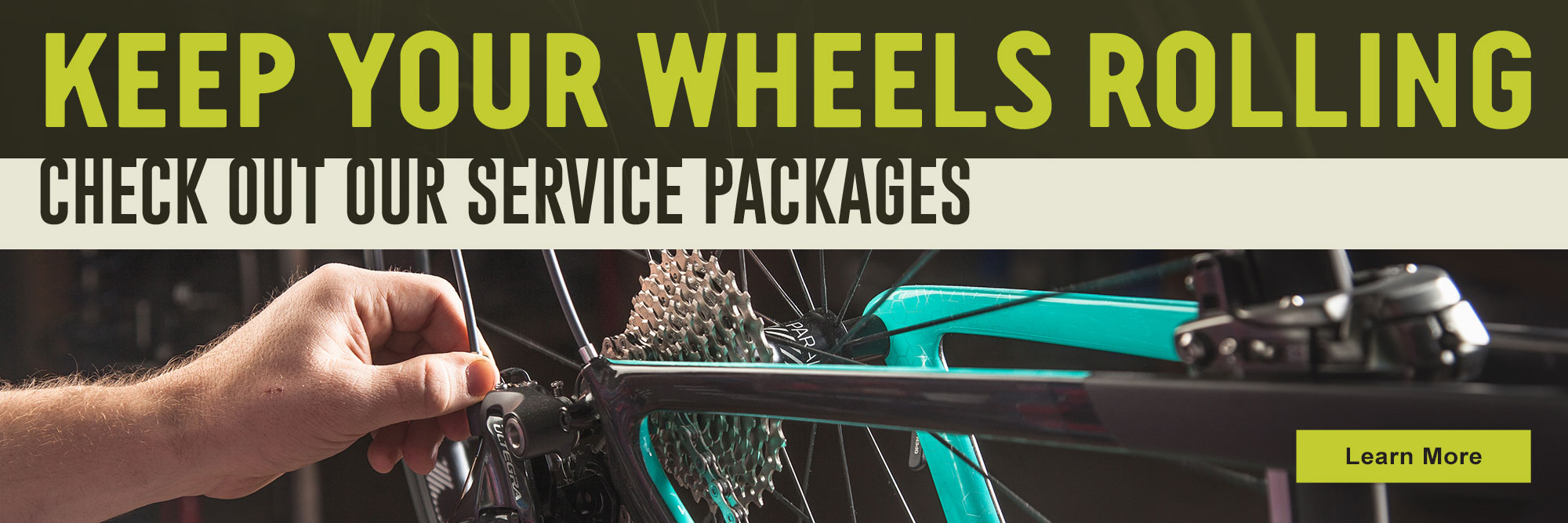 We service all types of bikes