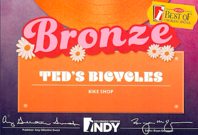 Bronze award best bike shop CO Springs