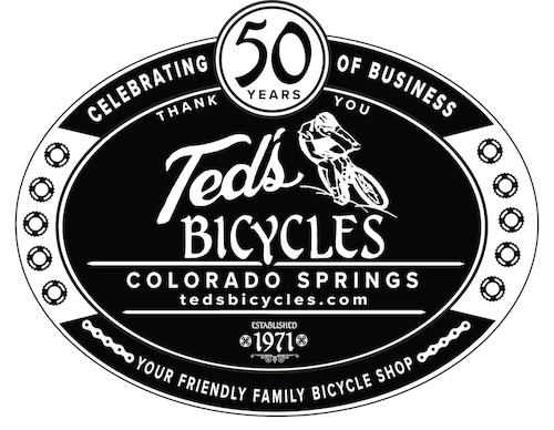 Ted's 50th anniversary logo