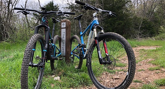 Concierge Service Demo Ride Featuring Two Mountain Bikes
