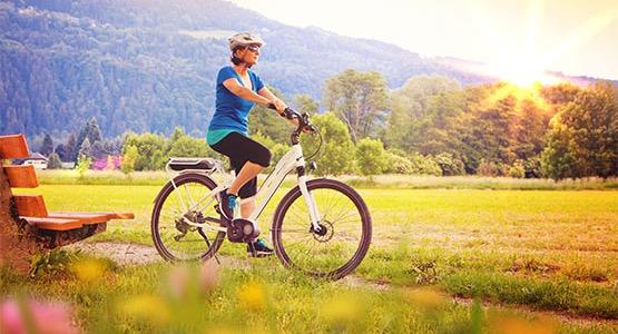 Trailhead Cycling Customer Enjoying Her New E-Bike