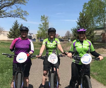 Trailhead Ambassadors Biking Together
