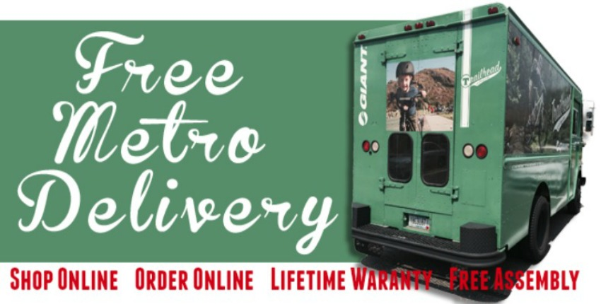 Free Metro Bike Delivery and Free delivery on all orders over $350