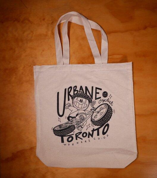Urbane Cyclist Tote Bag