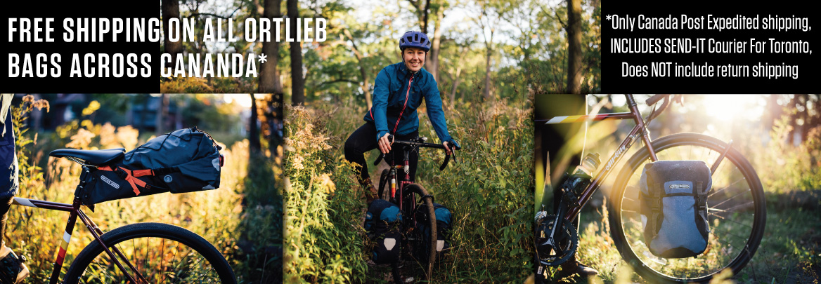 FREE SHIPPING ON ORTLIEB BAGS ACROSS CANADA!