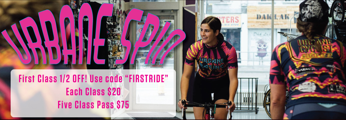 Urbane Spin is Back! Friendly and Fun- get your butt on a bike and ride with us!