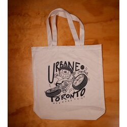 Urbane Cyclist Tote Bag