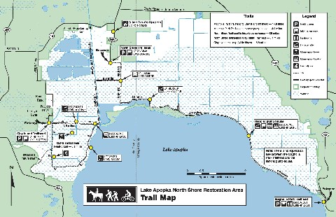 Lake Apopka Trail Map