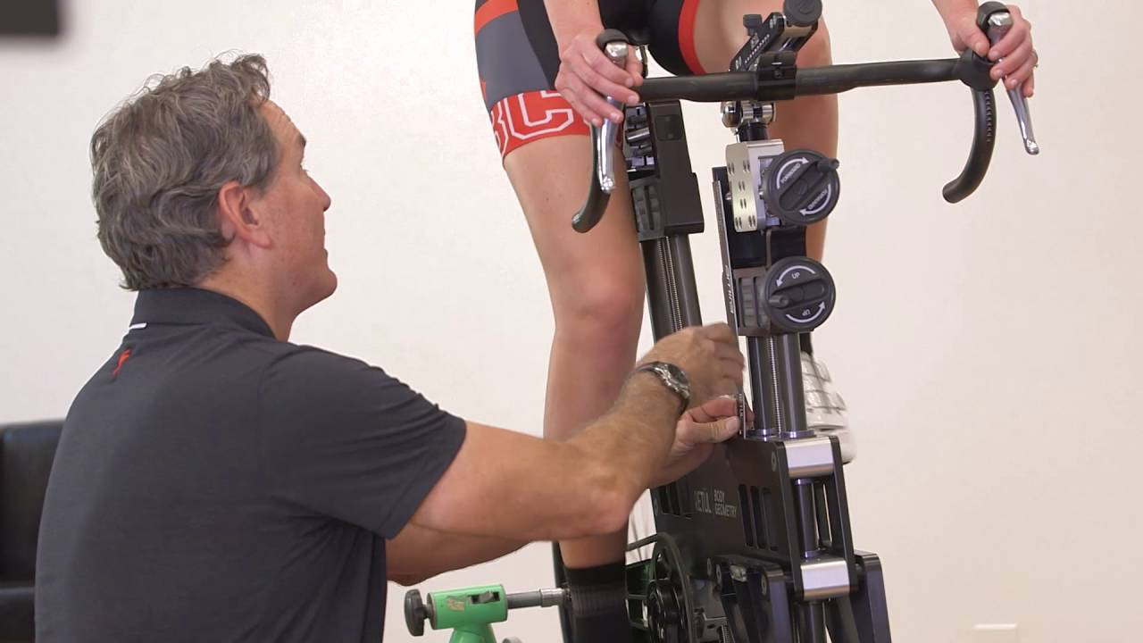 Rider getting fit on S-Works time trial bike